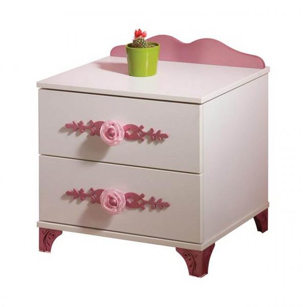 Nachtkonsole Pretty, weiß/rosa