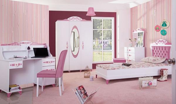 Kinderzimmer Pretty Mädchenzimmer rosa 5 teilig