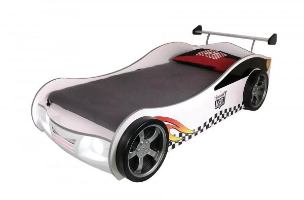 Autobett Turbo V4 weiß mit LED