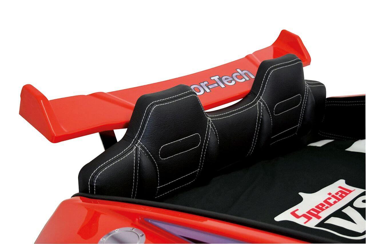 Autobett-Roadster-rot-Innenpolsterung-Kunstleder