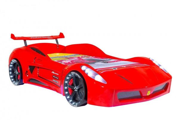 Autobett Turbo V7 Rot mit LED und Sound