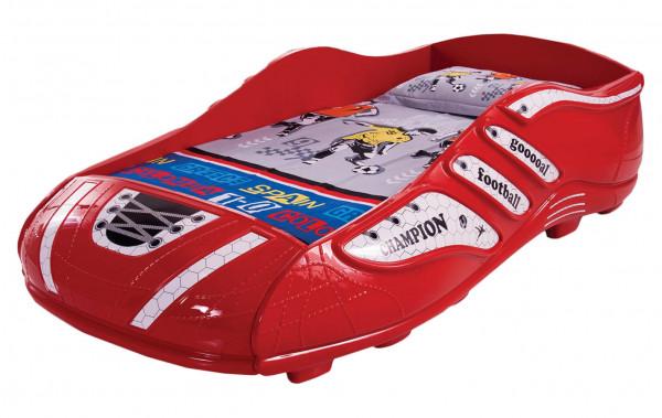 Kinderbett Fußballschuh 90x190 cm rot