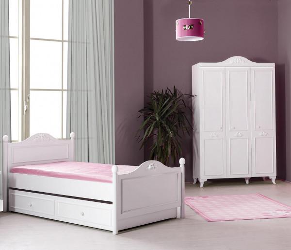 Komplettes Kinderzimmer Siena Weiß 2-teilig Spar Set