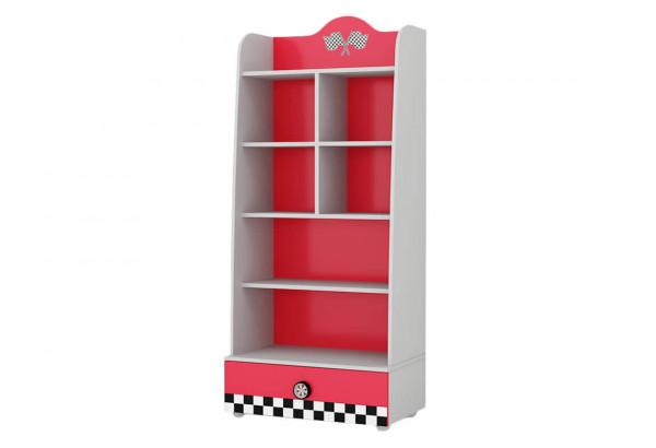 Bücherregal Turbo mit Schublade rot