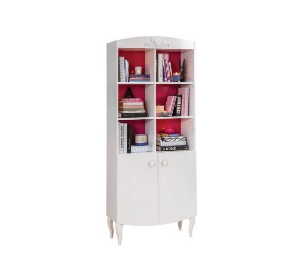 Bücherregal Sweety, weiß pink
