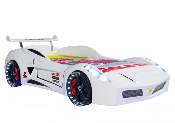 Autobett Turbo V7 weiß mit LED und Sound
