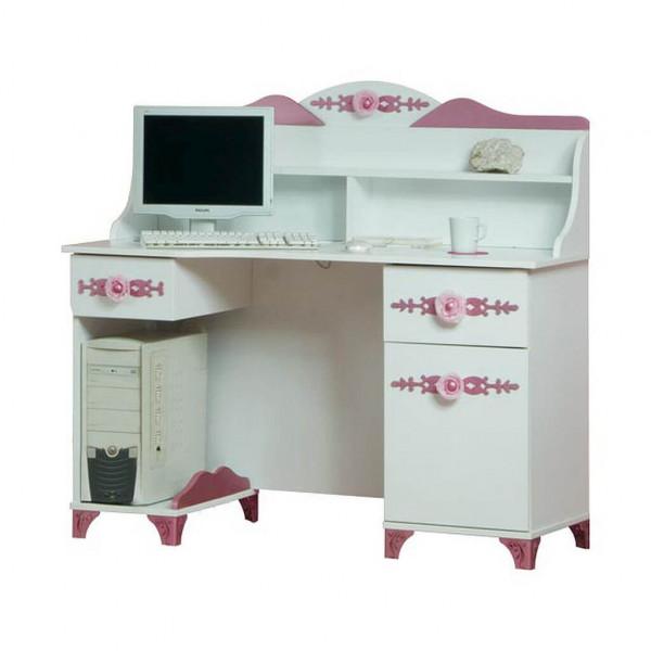 Schreibtisch Pretty, weiß/rosa