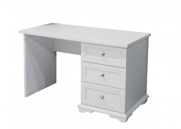 Schreibtisch Cindy Weiß Matt mit Schubladen