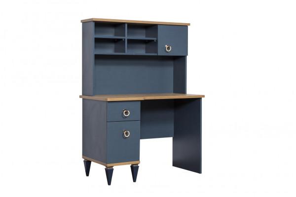 Schreibtisch Gusto mit Aufsatz blau