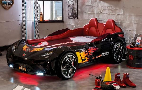 Autobett GTS Turbo schwarz 100x190 cm