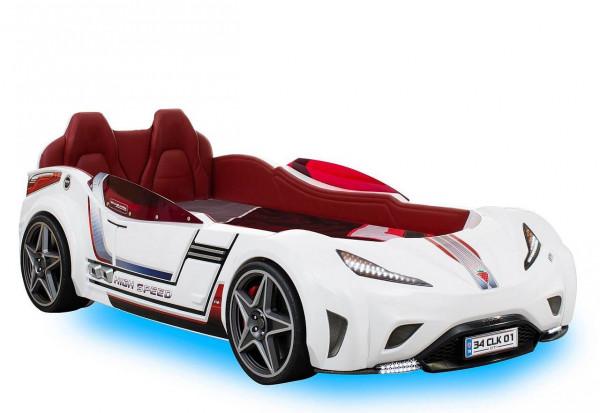 Autobett Turbo GTS mit Matratze weiß 100x190 cm