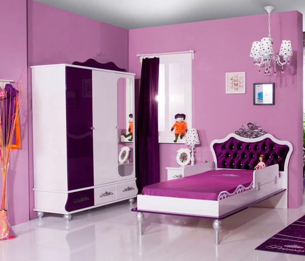 Kinderzimmer Spar Set Anastasia Prinzessin Mädchenzimmer lila 2-teilig