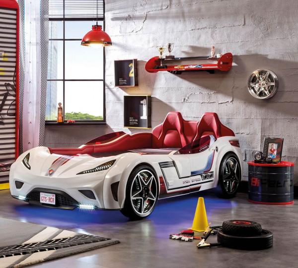 Autobett Turbo GTS weiß mit Innenpolsterung