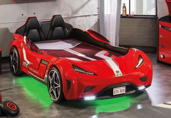 Autobett GTS Turbo Sport rot 100x190 cm