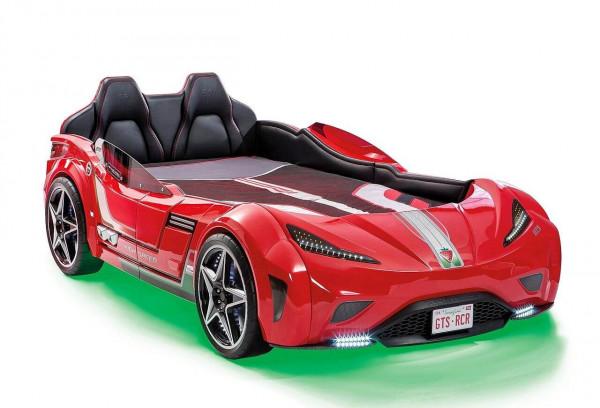 Autobett Turbo GTS mit Matratze rot 100x190 cm