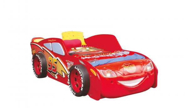 Autobett Disney Cars 90x190 cm rot mit Matratze