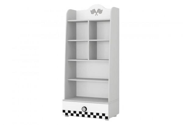 Bücherregal Turbo weiß mit Schublade