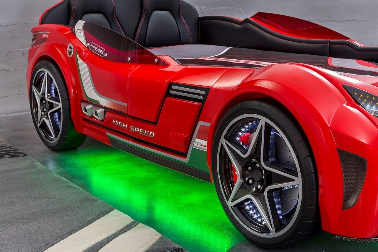 Cilek-GTS-Racer-Autobett-Unterboden-LED-Beleuchtung