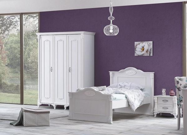 Kinderzimmer Romantic Spar Set Weiß 2-teilig