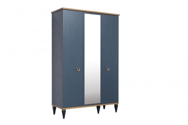 Kleiderschrank Gusto 3-türig blau