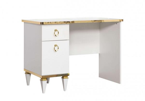 Schreibtisch Stella weiß gold