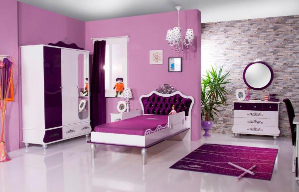 Prinzessin Kinderzimmer Anastasia lila 4-teilig